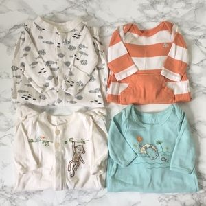 Lot of 4 Baby Gap Long Sleeved Outfits up to 7lbs